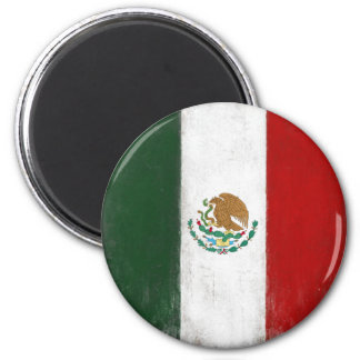 Magnet with Distressed Flag from Mexico
