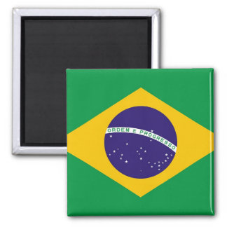 Magnet with Flag of  Brazil
