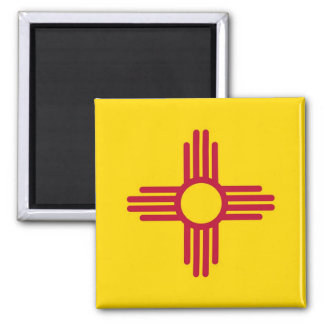 Magnet with Flag of New Mexico State - USA