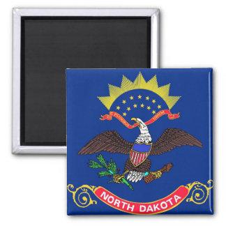 Magnet with Flag of North Dakota State - USA
