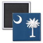 Magnet with Flag of South Carolina State - USA