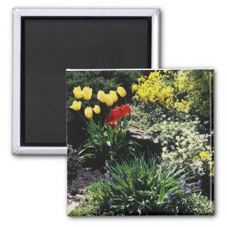 magnet with flower garden