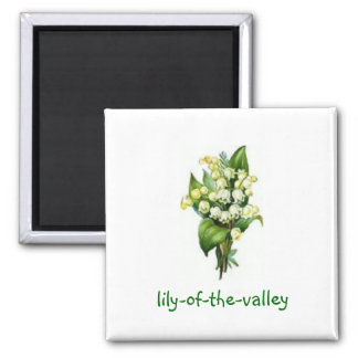 Magnet with Lily-of-the-Valley Design