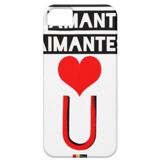 Magnet with loving lovers - Word games iPhone 5 Covers