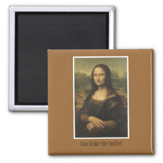 Magnet with Mona Lisa Design