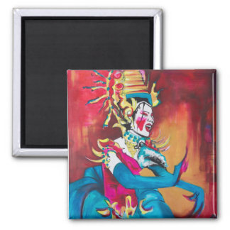 Magnet with the painting of a dancer
