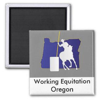 Magnet: Working Equitation Oregon Square Magnet