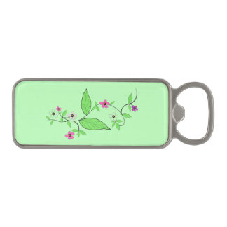 Magnetic Bottle Opener Floral