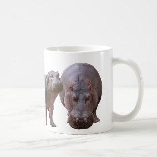 Magnetic cup of hippopotamus
