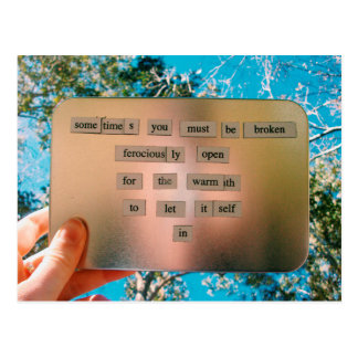 Magnetic Poetry Postcard