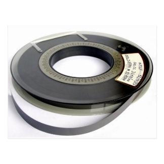 Magnetic tape reel postcard