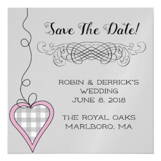 Magnetic wedding save The Date Magnetic Card