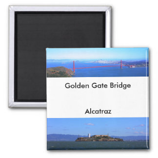 Magnets - Golden Gate Bridge and Alcatraz