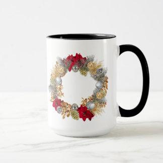 Magnificent Black 15 oz Mug In Christmas Design