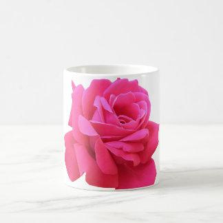 Magnificent Dark Pink Rose on Coffee Mug