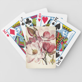 Magnificent Magnolia Bicycle Playing Cards