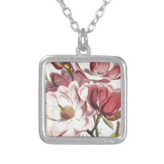 Magnificent Magnolia Silver Plated Necklace