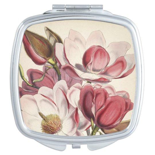 Magnificent Magnolia Travel Mirror