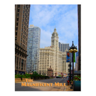 Magnificent Mile - Chicago Illinois Postcard