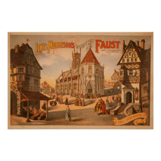Magnificent New Faust Nuremberg Germany Poster