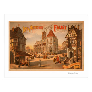 Magnificent New Faust Nuremberg Germany Poster Postcard