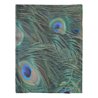 Magnificent Peacock Feathers Duvet Cover