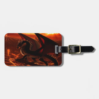 Magnificent Red Dragon Luggage Tag