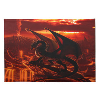 Magnificent Red Dragon Placemats