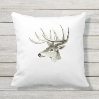 Magnificent Stag Outdoor Pillow