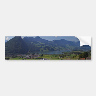 Magnificent view on the region of Lucerne Bumper Sticker