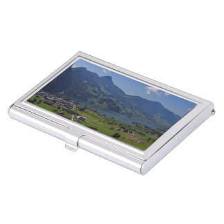 Magnificent view on the region of Lucerne Business Card Holder