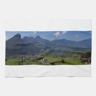 Magnificent view on the region of Lucerne Kitchen Towel