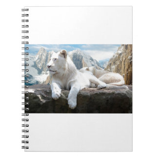 Magnificent White Tiger Mountain Backdrop Notebooks