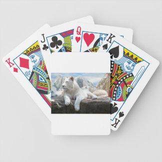 Magnificent White Tiger Mountain Backdrop Poker Deck