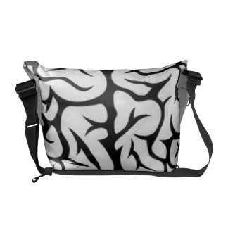 Magnified Brain Messenger Bag
