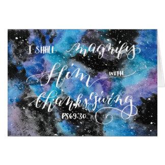 Magnify Him 3 Greeting Card