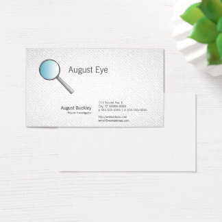 Magnifying Glass Investigations Textured Look Business Card