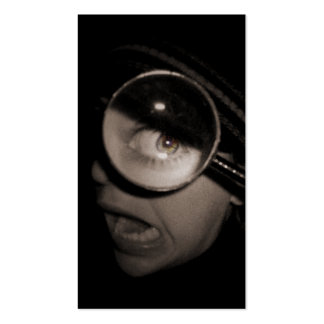 magnifying optometrist business card