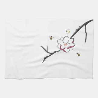 Magnolia and Honey Bees Kitchen Towel