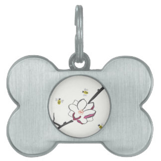 Magnolia and Honey Bees Pet ID Tag