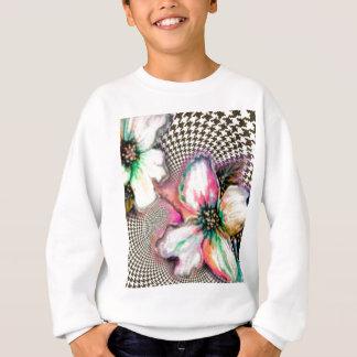 Magnolia and Hounds Tooth Design Sweatshirt