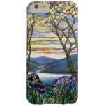 Magnolia and Iris Scenic Stained Glass Window iPhone 6 Plus Case