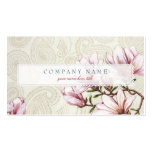 Magnolia and Paisley Business Card Template
