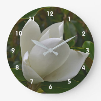 Magnolia Bloom Clocl Large Clock