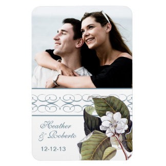 Magnolia Blossom Southern Wedding Save the Date Rectangular Photo Magnet