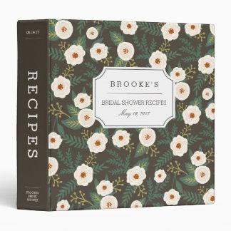 Magnolia Blossoms Bridal Shower Recipe 3 Ring Binders