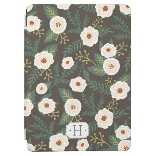 Magnolia Blossoms Floral Monogram iPad Air Cover