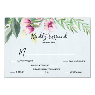 Magnolia Blue Response Card