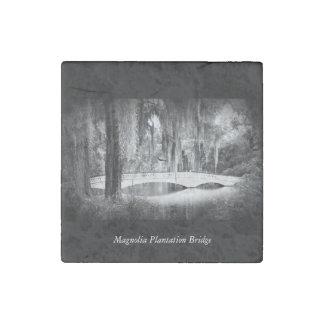 Magnolia Bridge Stone Magnets