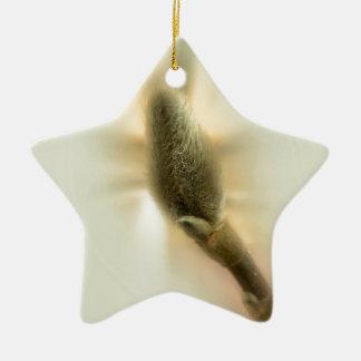 magnolia bud ceramic ornament